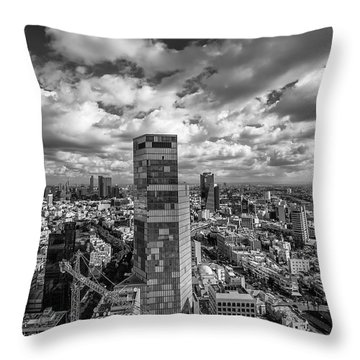 Throw Pillow featuring the photograph Tel Aviv High And Above by Ron Shoshani