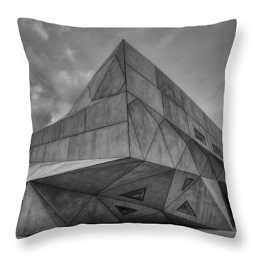 Throw Pillow featuring the photograph Tel Aviv Museum  by Ron Shoshani