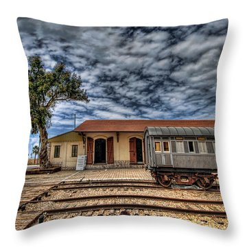 Tel Aviv Old Railway Station Throw Pillow