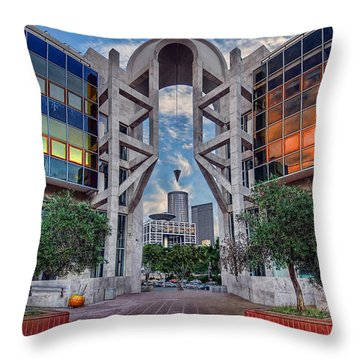 Throw Pillow featuring the photograph Tel Aviv Performing Arts Center by Ronsho