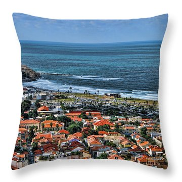 Throw Pillow featuring the photograph Tel Aviv Spring Time by Ron Shoshani