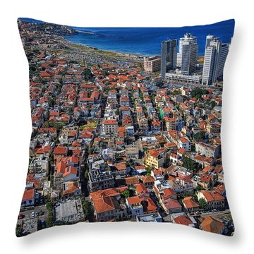 Throw Pillow featuring the photograph Tel Aviv - The First Neighboorhoods by Ron Shoshani