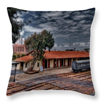 Throw Pillow featuring the photograph Tel Aviv To Jerusalem by Ron Shoshani