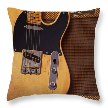 Telecaster Deluxe Throw Pillow by WB Johnston
