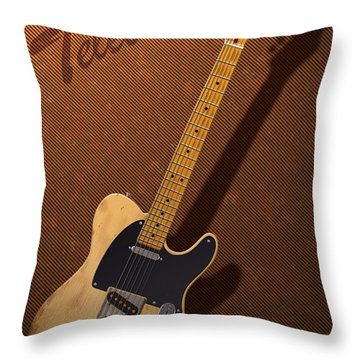 Telecaster Throw Pillow by WB Johnston