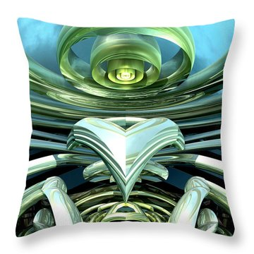 Telecoil Throw Pillow by Kevin Trow