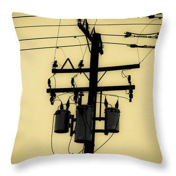 Telephone Pole 3 Throw Pillow
