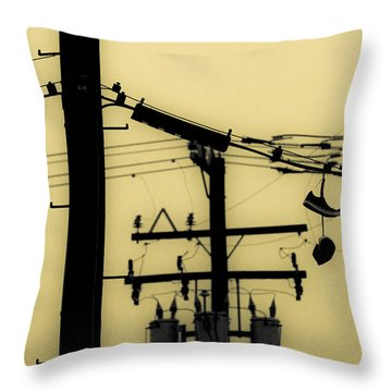 Telephone Pole And Sneakers 5 Throw Pillow