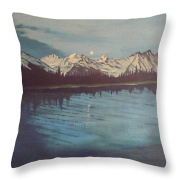 Throw Pillow featuring the painting Telequana Lk Ak by Terry Frederick