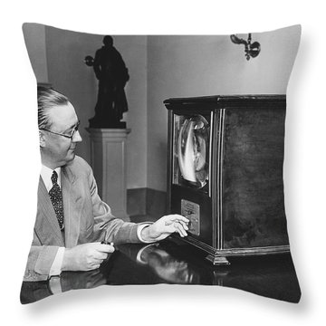 Television In The White House Throw Pillow