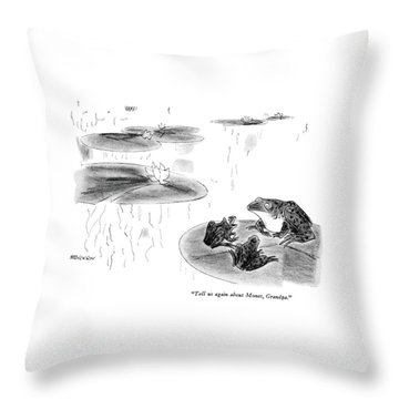 Tell Us Again About Monet Throw Pillow