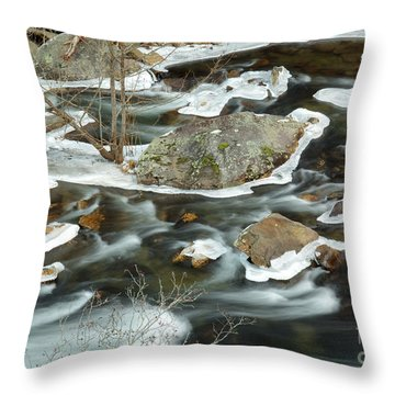 Tellico River Throw Pillow by Douglas Stucky