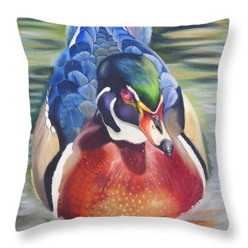 Throw Pillow featuring the painting Telling by Phyllis Beiser