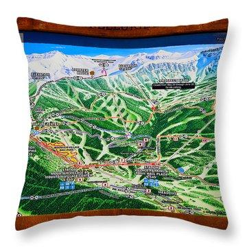 Telluride Ski Map Detail  Throw Pillow