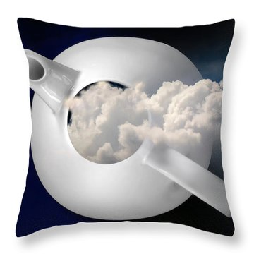 Tempest In A Teapot Throw Pillow by John Poon