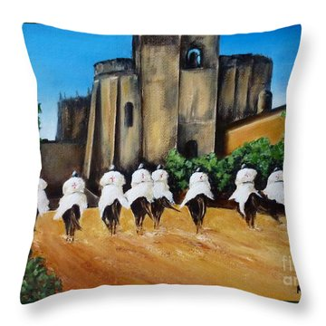 Templar Knights And The Convent Of Christ Throw Pillow