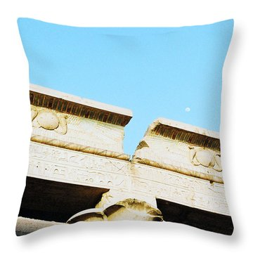 Throw Pillow featuring the photograph Temple At Luxor by Cassandra Buckley