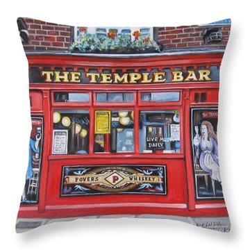 Temple Bar Dublin Ireland Throw Pillow by Melinda Saminski