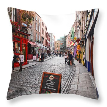 Temple Bar Throw Pillow by Mary Carol Story