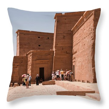 Temple Building Throw Pillow