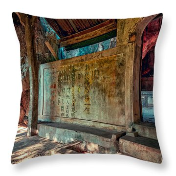 Temple Cave Throw Pillow by Adrian Evans