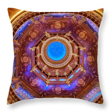 Temple Ceiling Throw Pillow