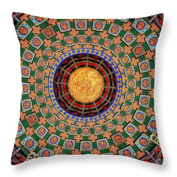 Throw Pillow featuring the photograph Temple Ceiling by Lisa L Silva
