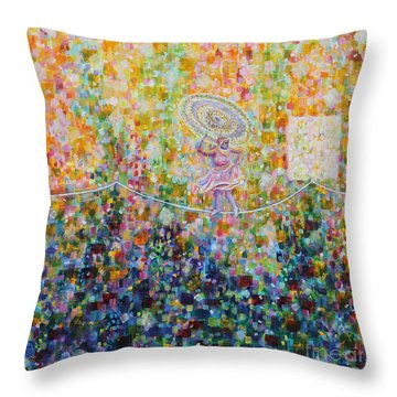 Temple Dance-tightrope  Throw Pillow