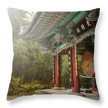 Temple Drum Throw Pillow