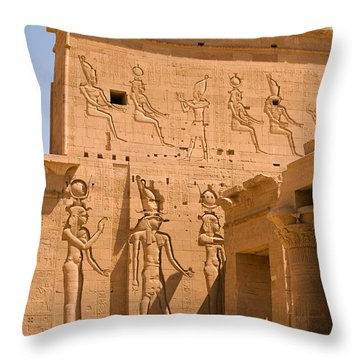 Temple Exterior Throw Pillow