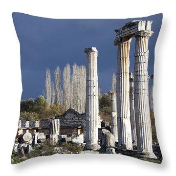 Temple Of Aphrodite Throw Pillow