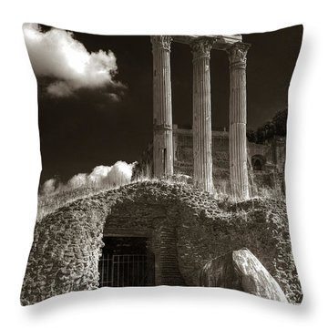 Temple Of Castor And Polux Throw Pillow