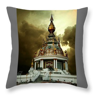 Temple Of Clouds  Throw Pillow