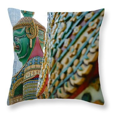 Temple Of Dawn Throw Pillow