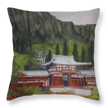Temple Of Equality Throw Pillow by Suzette Kallen