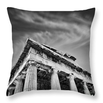 Temple Of Hephaestus- Athens Throw Pillow