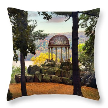 Temple Of Love In Autumn Throw Pillow