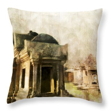 Temple Of Preah Vihear Throw Pillow by Catf