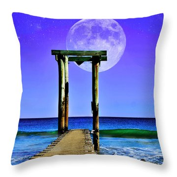 Temple Of The Atlantic Throw Pillow