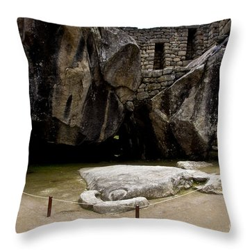 Temple Of The Condor Throw Pillow