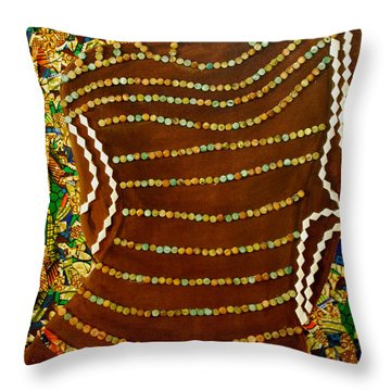 Throw Pillow featuring the tapestry - textile Temple Of The Goddess Eye Vol 2 by Apanaki Temitayo M