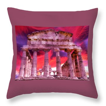 Temple Of The Gods Throw Pillow
