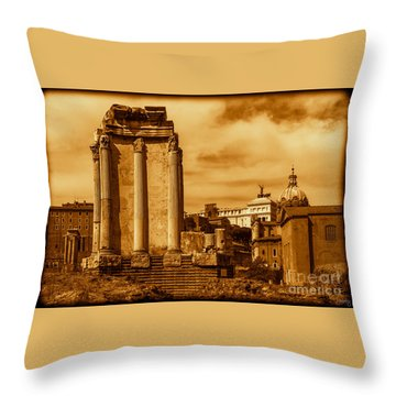 Temple Of Vesta Throw Pillow