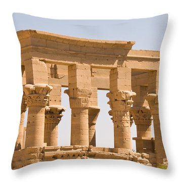 Temple Out Building Throw Pillow