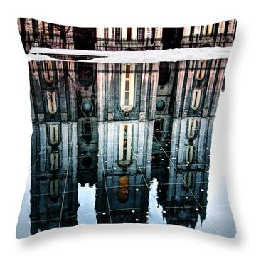 Throw Pillow featuring the photograph Temple Reflection by Jim Hill