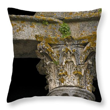 Temple Ruin Fragment Throw Pillow by Heiko Koehrer-Wagner