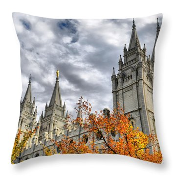 Temple Trees Throw Pillow