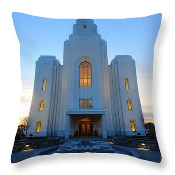 Temple Work Throw Pillow
