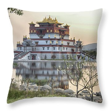 Temple Wuxi China Color Throw Pillow