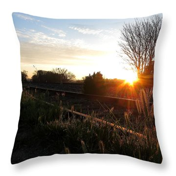 Templeton Tracks Throw Pillow by Paul Foutz
